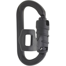 AustriAlpin Ovalock Snapgate Carabiner for safer belaying black anodized